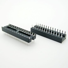 28 Pin 2.54mm DIP Squre Hole IC Sockets Adapter Connector