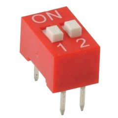 2 Poles Dip switches Red