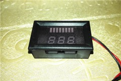 Battery Meter Display for Electric Vehicle Battery