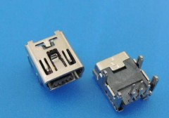 Direct-plug Mini USB 5PF T-type USB base
