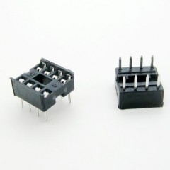 8 Pin 2.54mm DIP Square Hole IC Sockets Adapter Connector