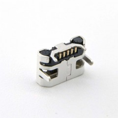MICRO USB Corner 5-pin Quadruped Plug-in